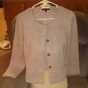 Ann Taylor Glitter Tweed Jacket 10